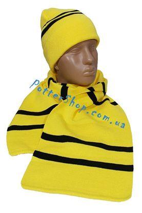 Комплект шарф и шапка Пуффендуй
