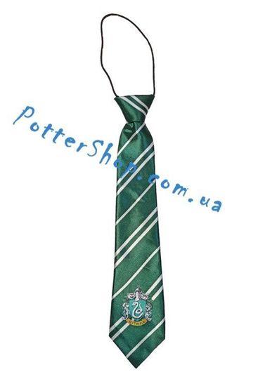 Детский галстук Слизерин с эмблемой